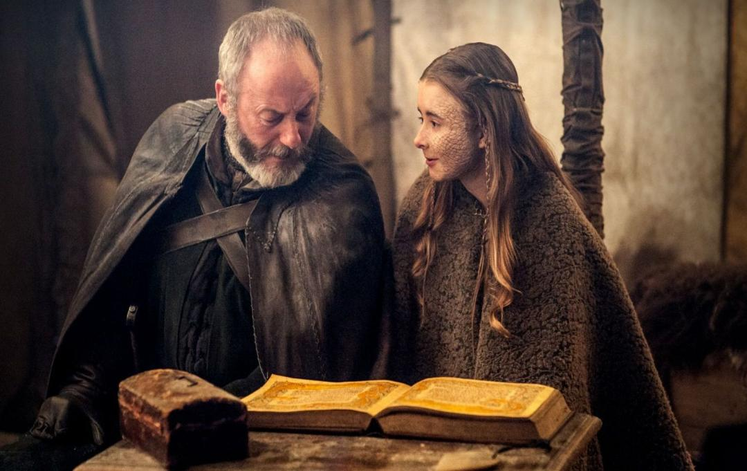 NEGATIV_GAME OF THRONES_THE DANCE OF DRAGONS_Davos Seaworth, Shireen Baratheon