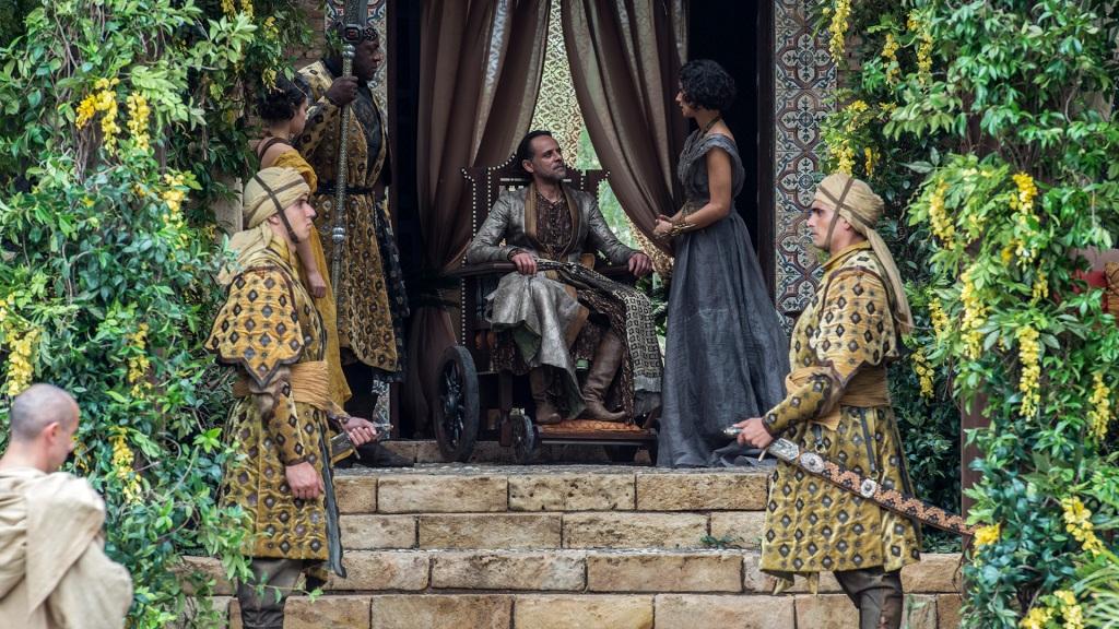 Nur wenige Hiebe, und Haus Martell ist dahin. Ob Oberyn Martell Ellarias Aktionen gut geheißen hätte? Jedenfalls ist Areo Hotah der nutzloseste Leibwächter der Welt. - HBO