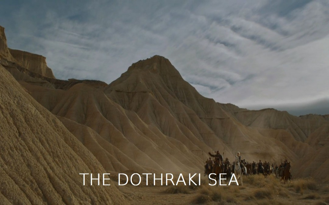Dothraki Sea mit Text