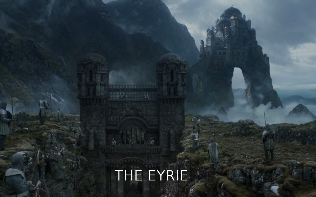 Eyrie mit Text