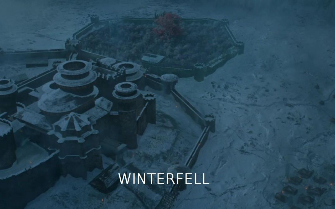 Winterfell mit Schrift